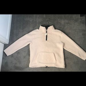 PINK VICTORIA'S SECRET SHERPA QUARTER-ZIP